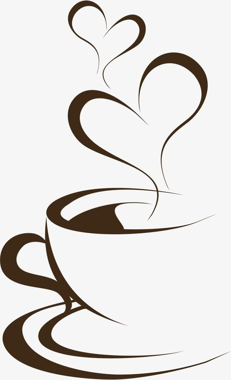 Hand Painted Brown Coffee Cup, Cup, Clipart PNG Transparent.