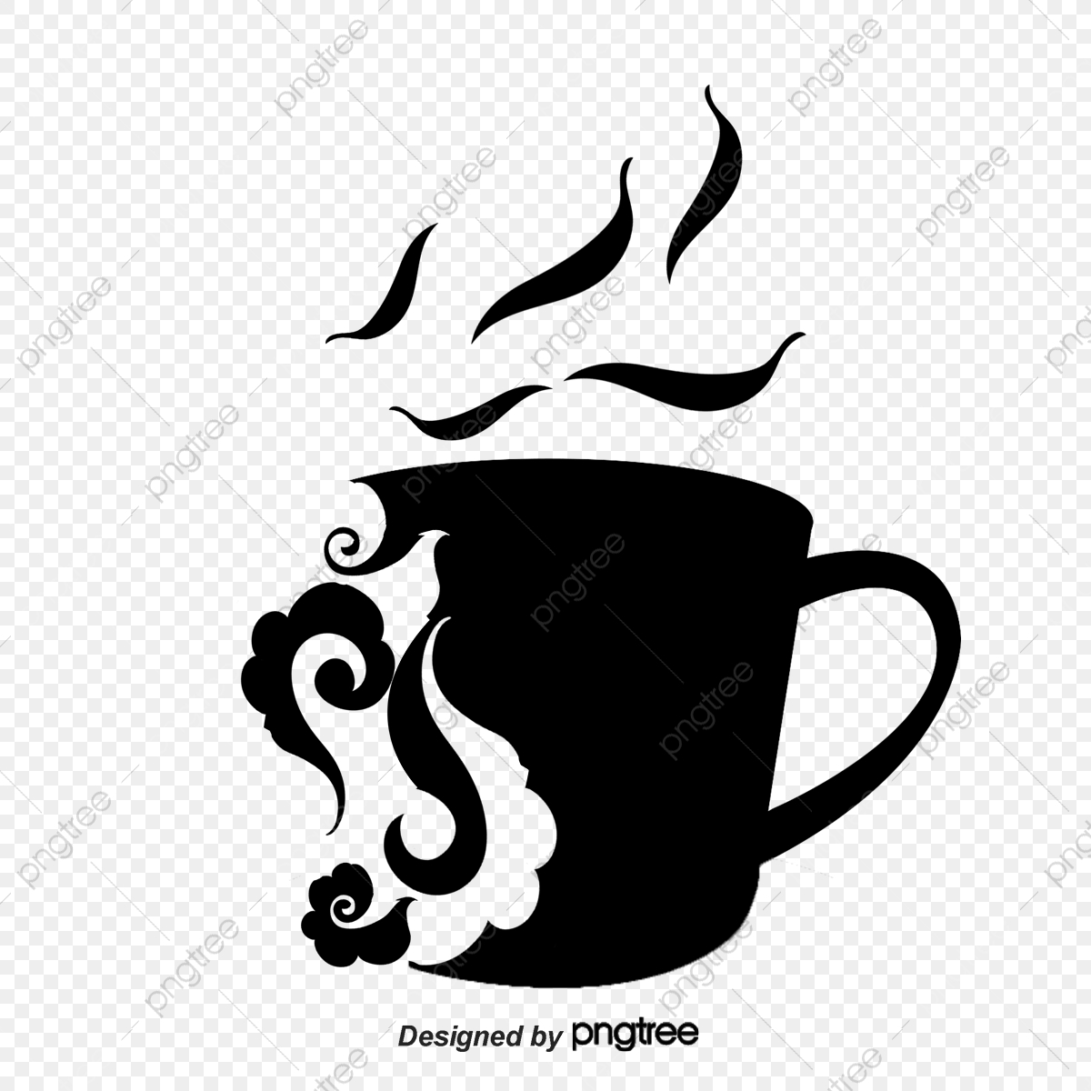 Silhouette Decorative Cup, Silhouette Vector, Cup, Chinese Style PNG.