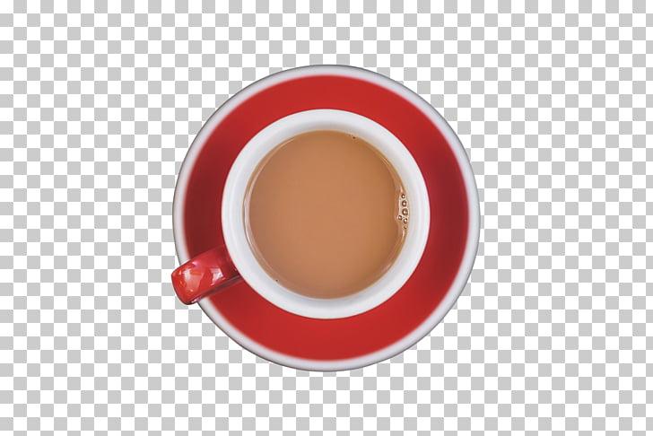 Coffee cup Circle, Coffee top view, white mug on saucer top.