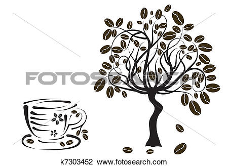 coffee cup tree clipart #10