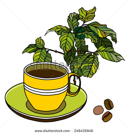 coffee cup tree clipart #9