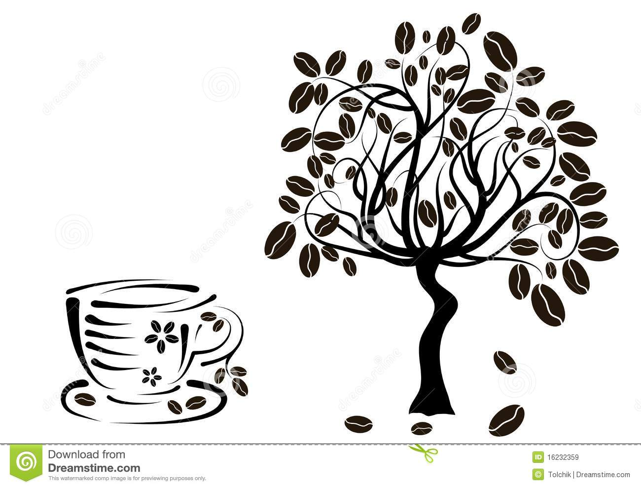 coffee cup tree clipart #8