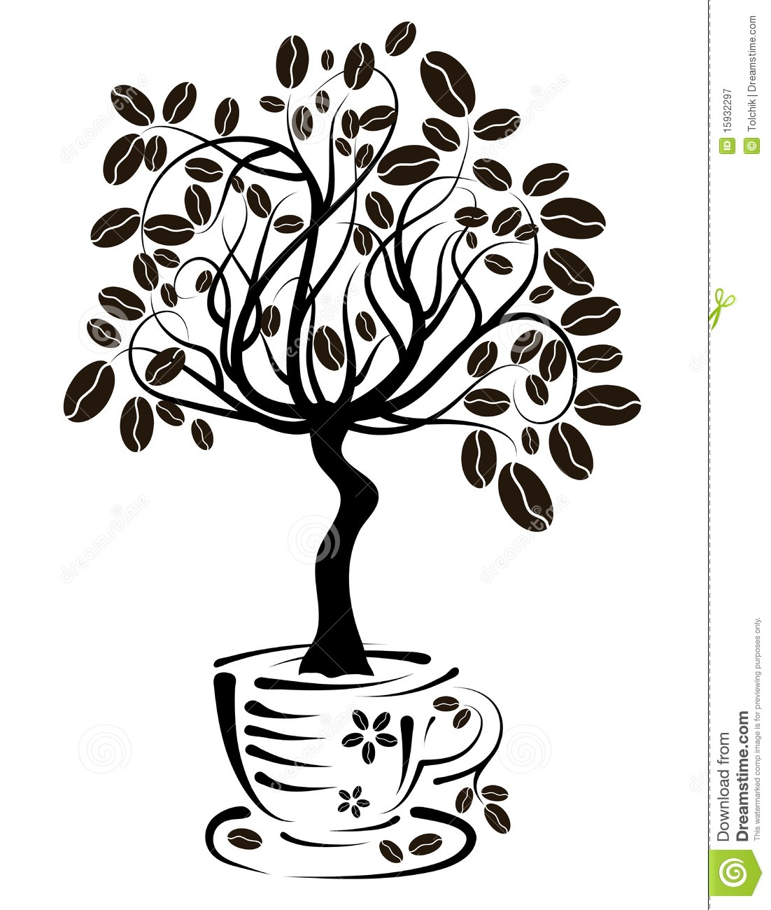 coffee cup tree clipart #19