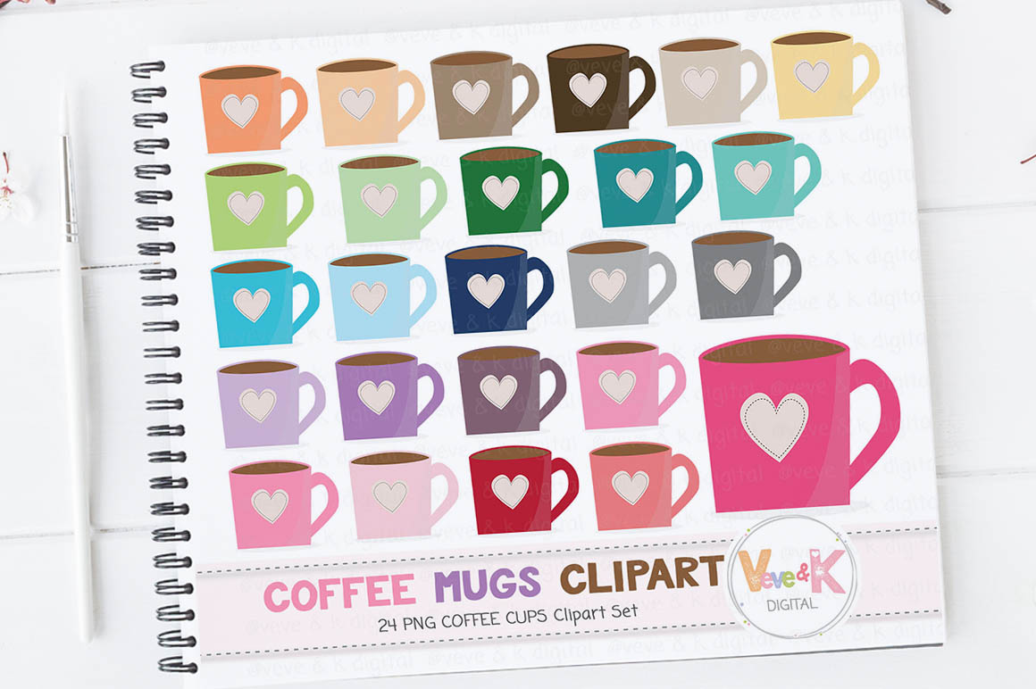Coffee Mugs Clipart, Mug Clipart, Tea mugs clipart, Tea clipart, Mug  Clipart, Coffee Cups Clipart, Coffee Addict Clipart.