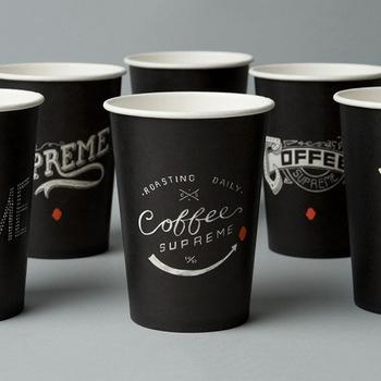 Disposable Custom Logo Double Wall Take Away Coffee Cups.
