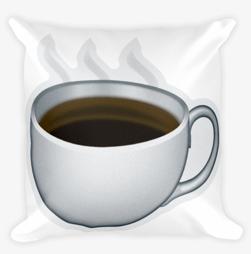 Emoji Pillow Hot Beverage Just Emoji Png Coffee Emoji.