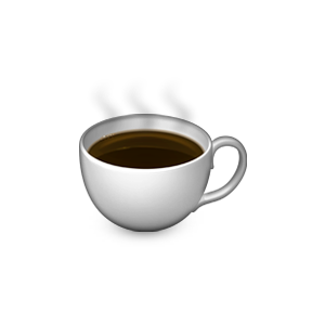 a coffee emoji discovered by thrift shop ?? on We Heart It.