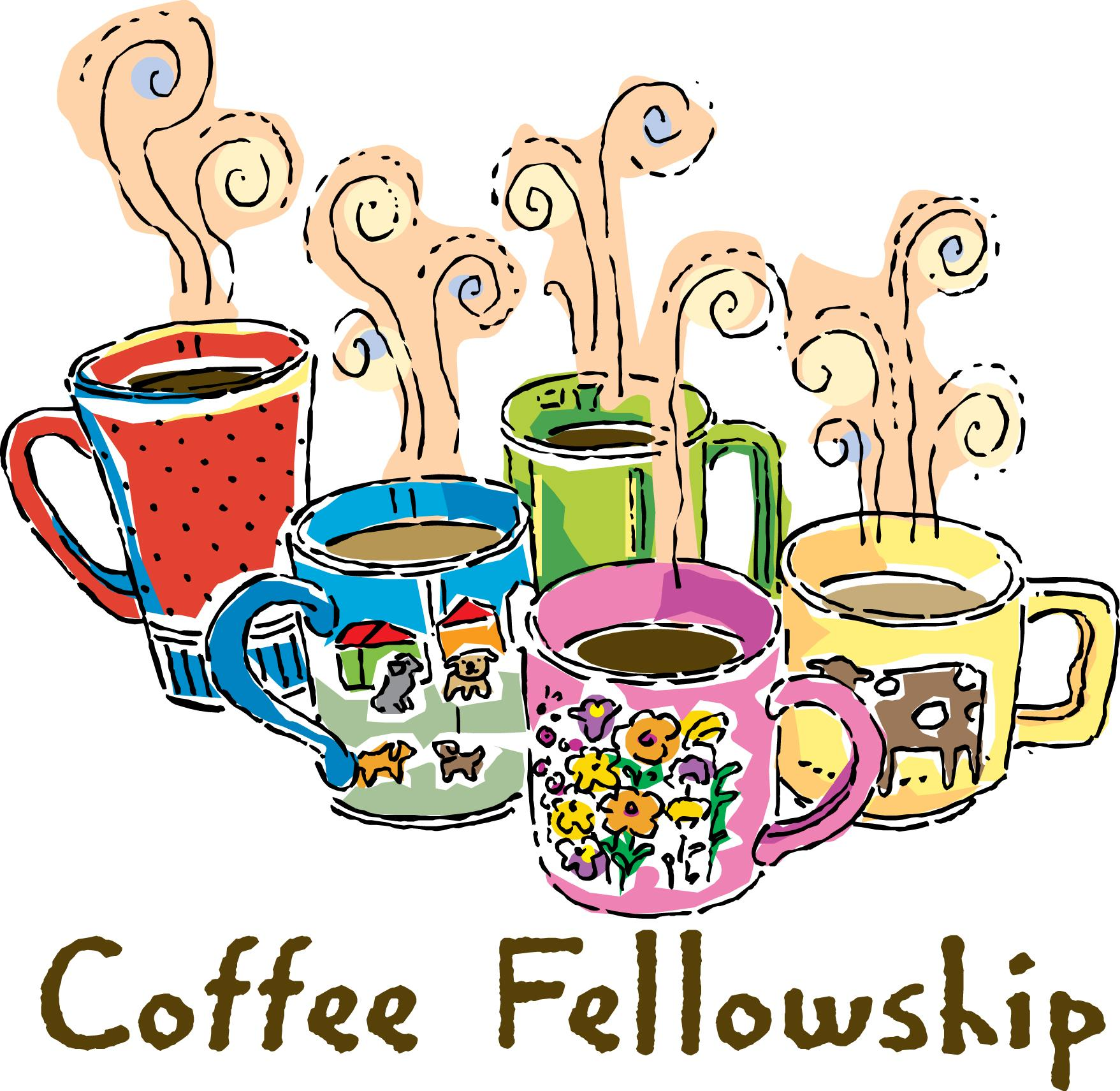 Church Coffee Fellowship Clip Art free image.