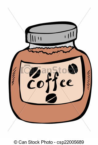 Stock Illustration of doodle instant coffee csp22005689.