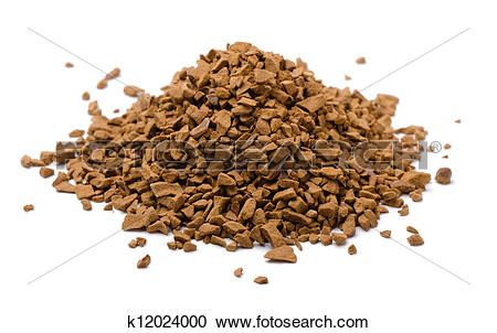 Stock Photography of Instant coffee granules k12024000.