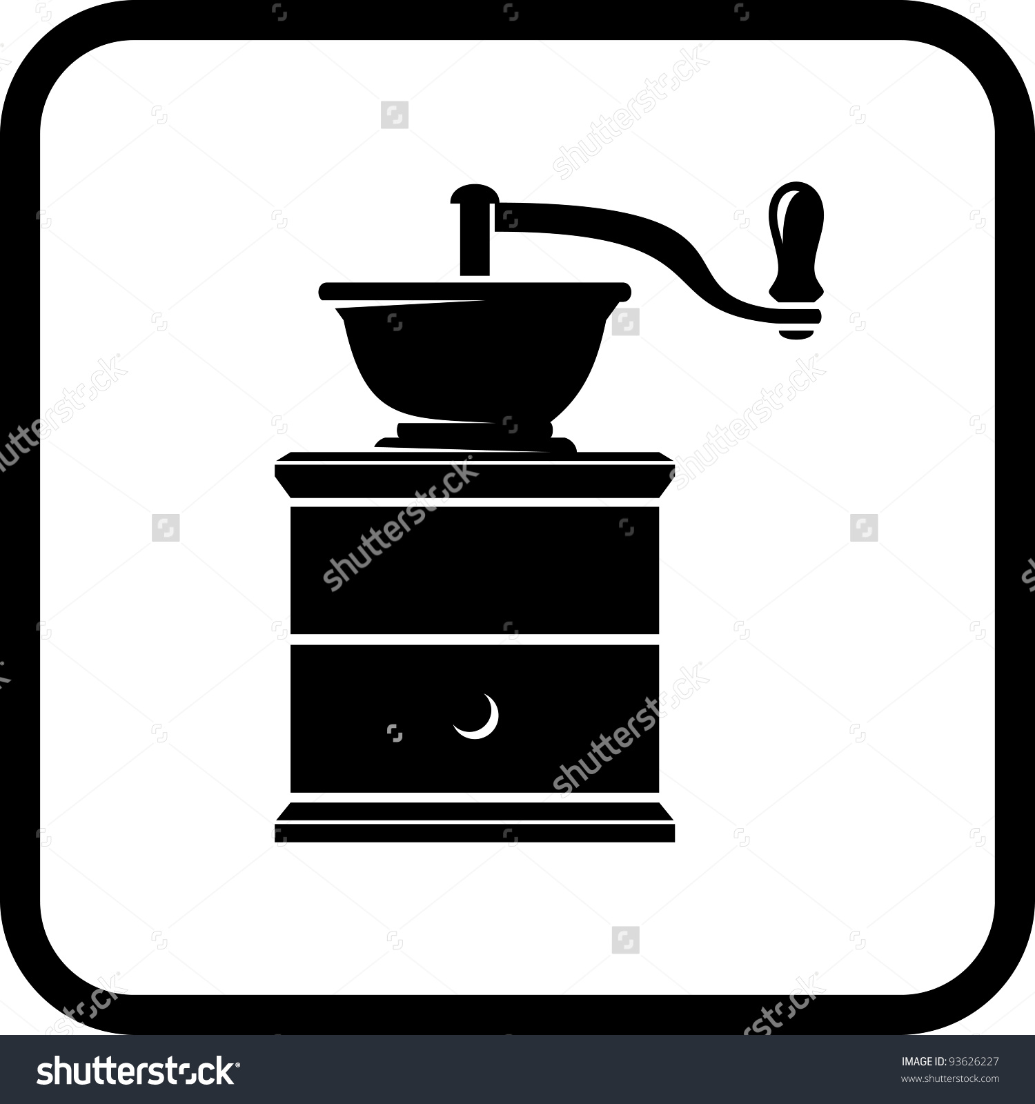 Coffee Grinder Vector Icon Isolated On Stock Vector 93626227.