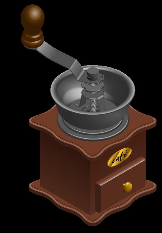 Free Manual Coffee Grinder Clip Art.