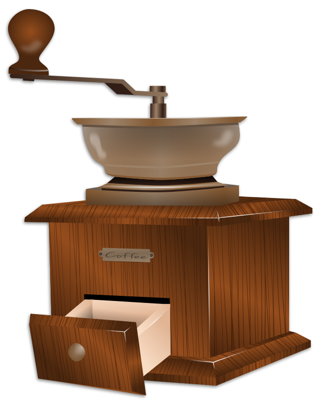 Free Traditional Coffee Grinder Clip Art.