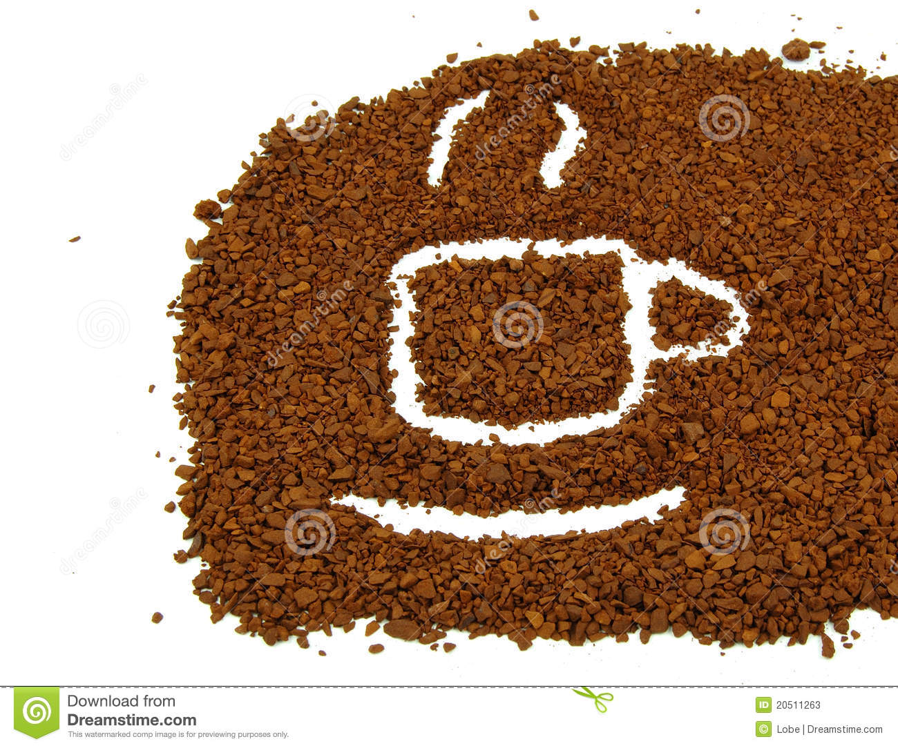 Coffee Grounds On Spoon Stock Photos Image 20511263 #7qtBeK.