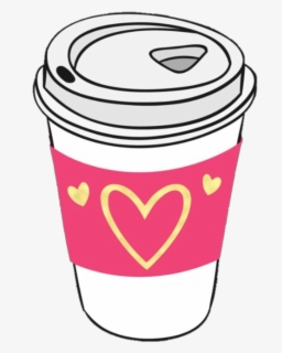 Free Coffee Cup Heart Clip Art with No Background.
