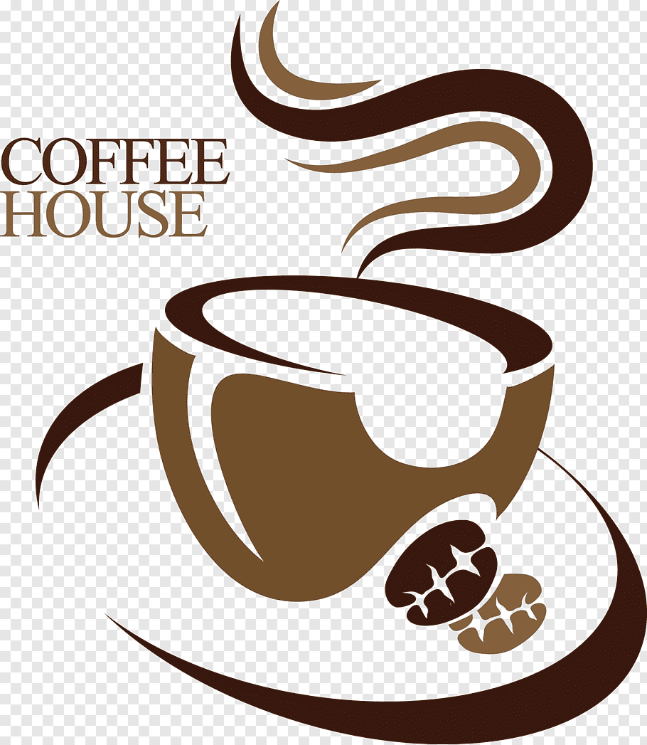 Coffee Cafe Logo, Cafe logo, Coffee house logo free png.
