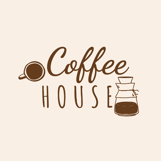 Coffee house cafe logo vector Vector.