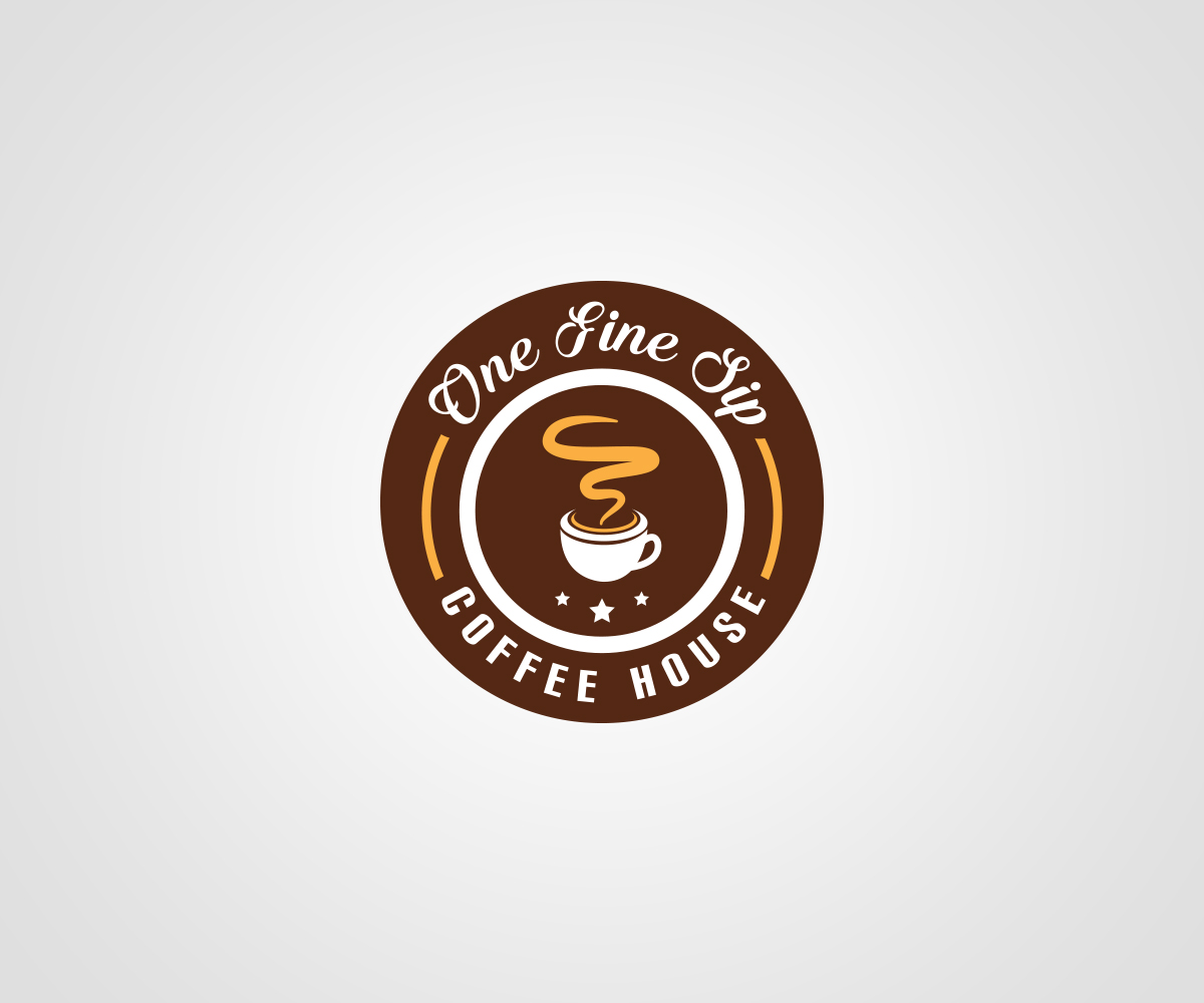 Serious, Colorful, Cafe Logo Design for One Fine Sip Coffee.
