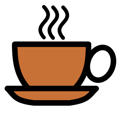 Illustration of a hot cup of coffee with a transparent.