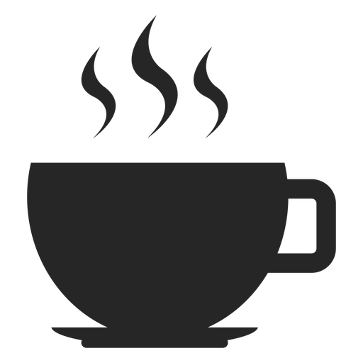 Hot coffee cup flat icon.