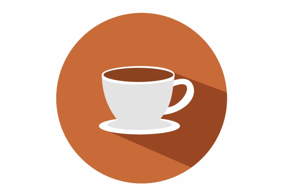 Coffee Cup Flat Icon , Png Download.