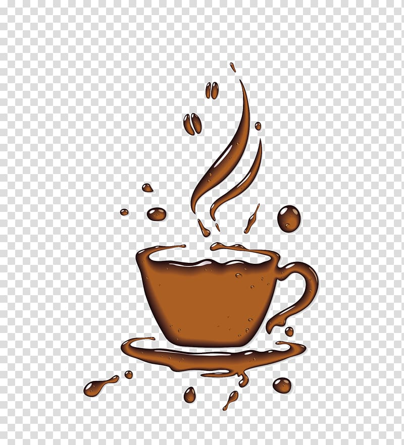 Coffee illustration, Coffee cup Cafe , coffee cup.