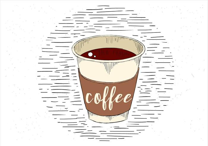 Free Hand Drawn Vector Cup of Coffee Illustration.