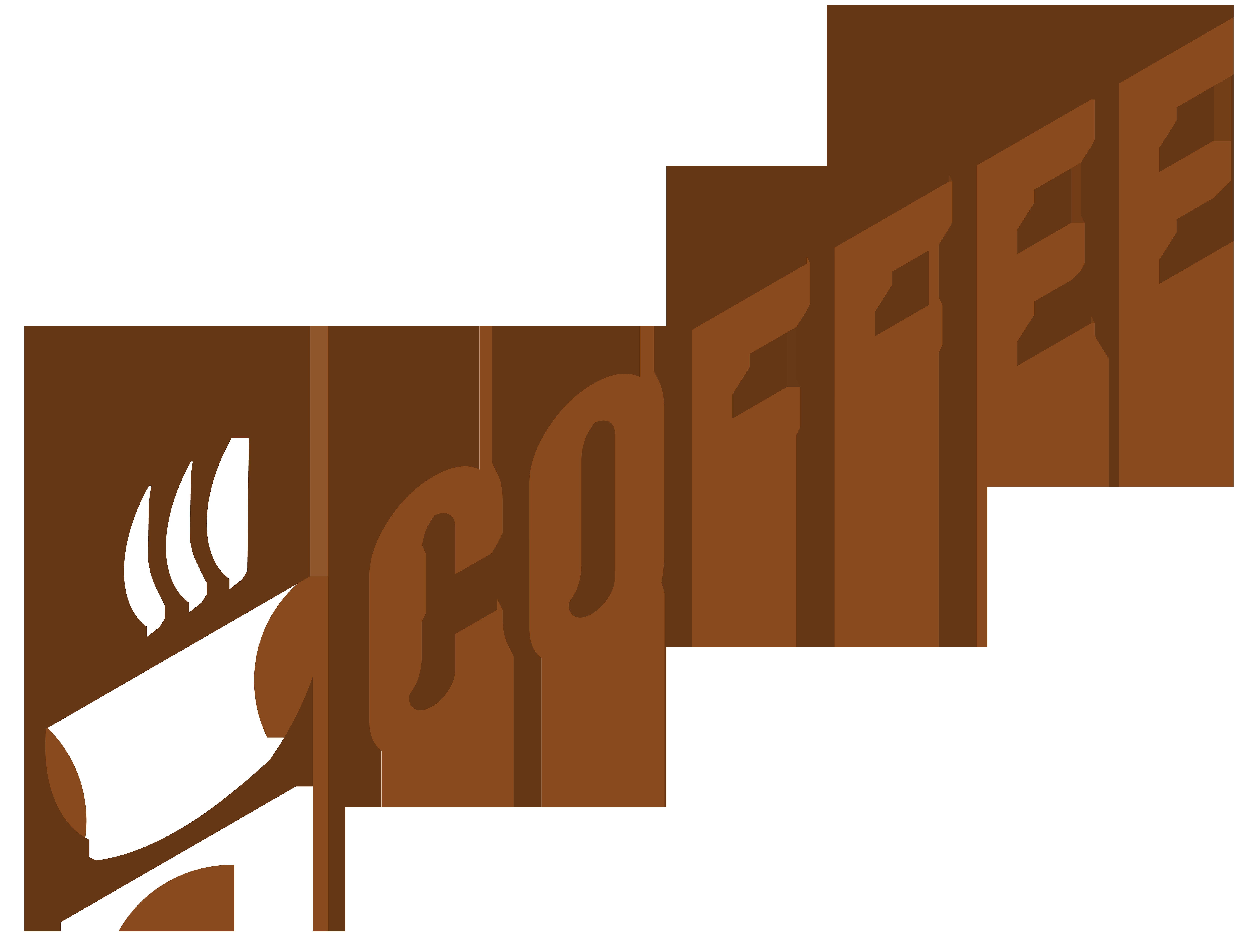 Coffee Logo Transparent Clip Art Image.
