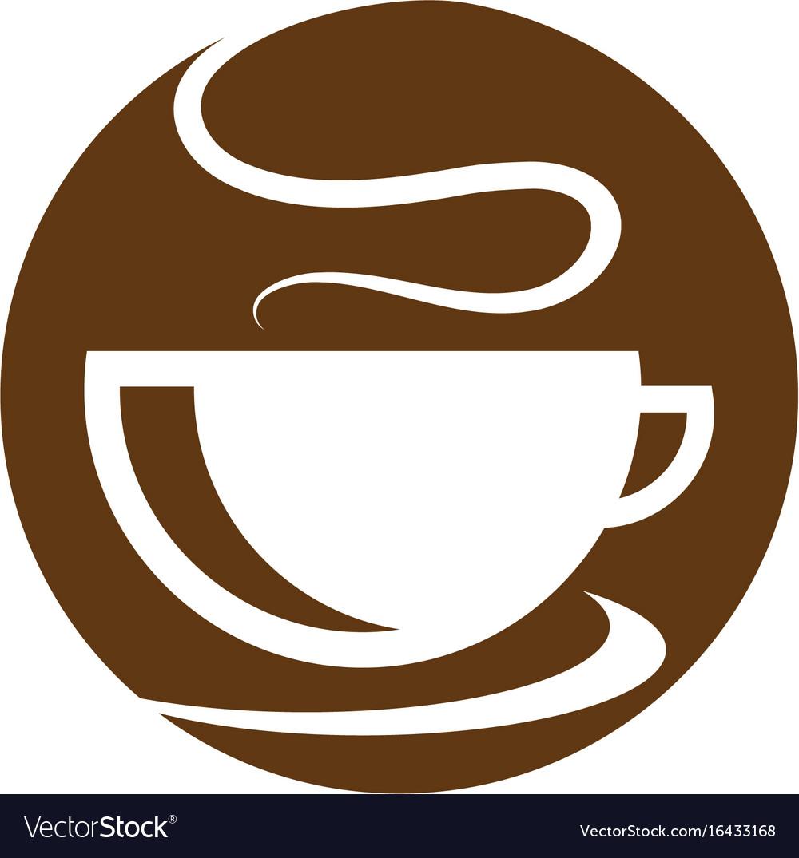 Coffee cup logo template icon design.