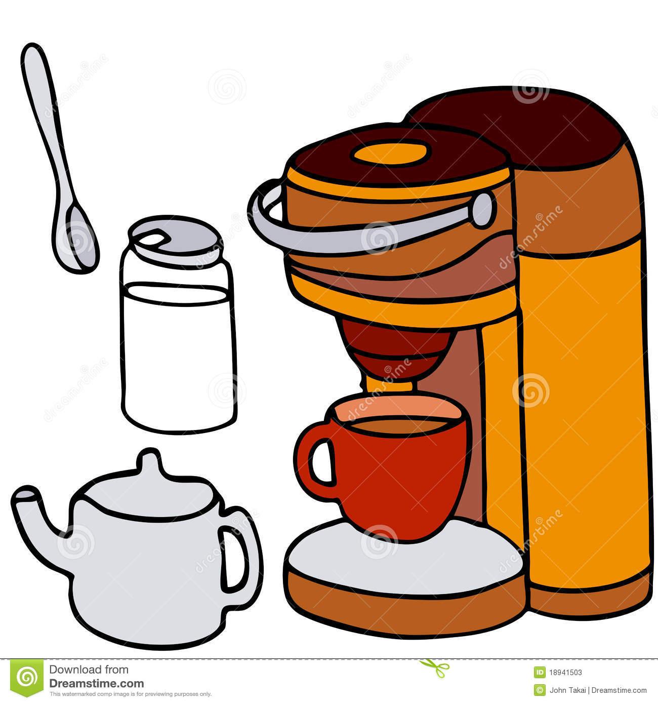 Single Serving Coffee Machine Stock Photos.