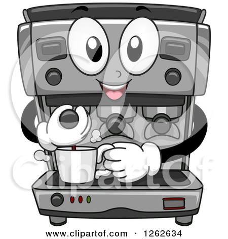 Coffee maker clip art.