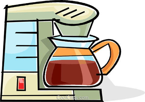 coffee machine Royalty Free Vector Clip Art illustration.