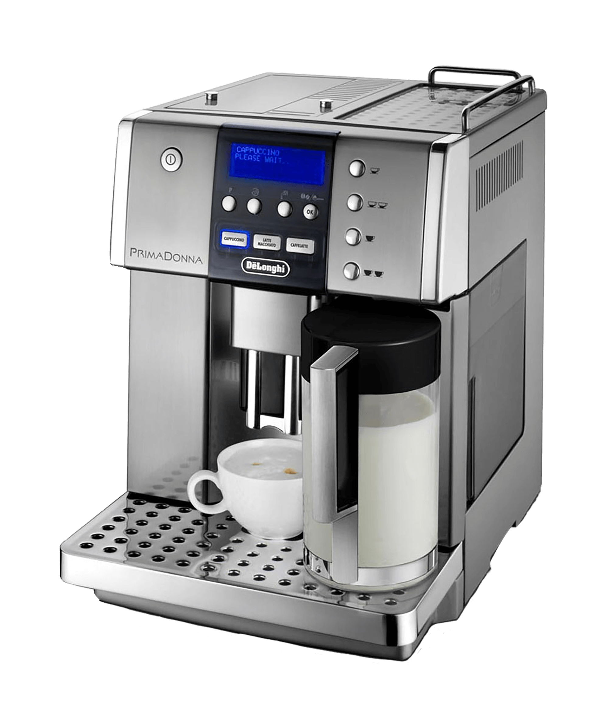 Delonghi Prima Donna Coffee Machine transparent PNG.