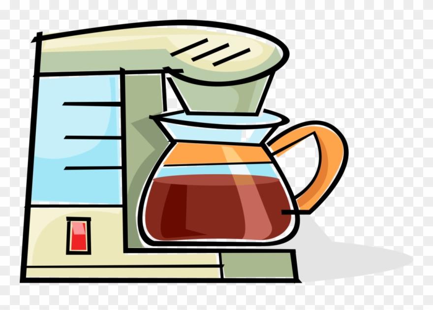 Vector Illustration Of Kitchen Coffee Pot, Coffeemaker,.