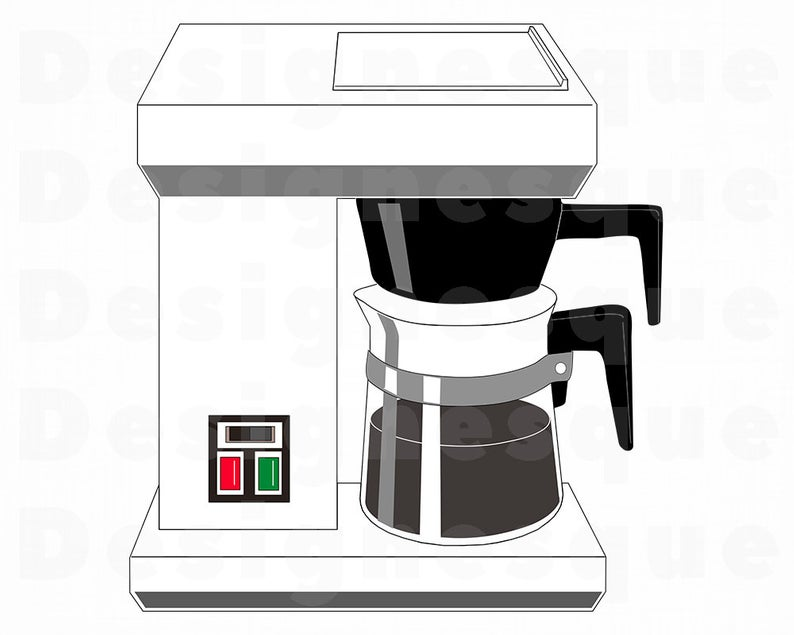 Drip Coffee Maker SVG, Coffee SVG, Drip Coffee Maker Clipart, Coffee Maker  Files for Cricut, Cut Files For Silhouette, Dxf, Png, Eps, Vector.