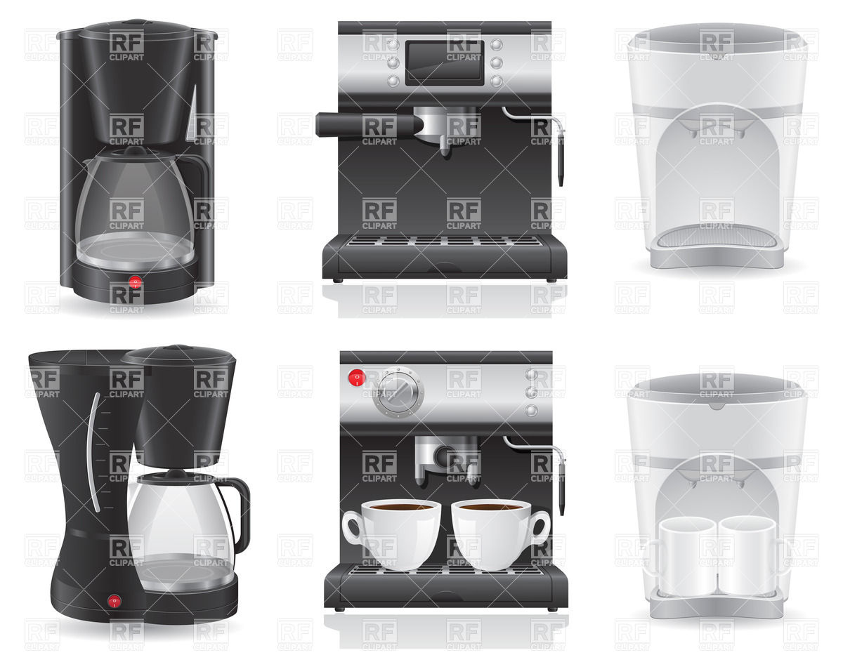 Set of coffee makers Stock Vector Image.
