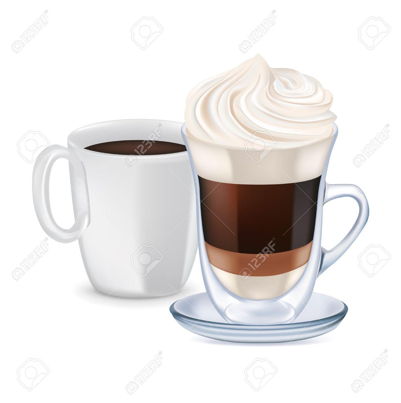 Milk coffee clipart.