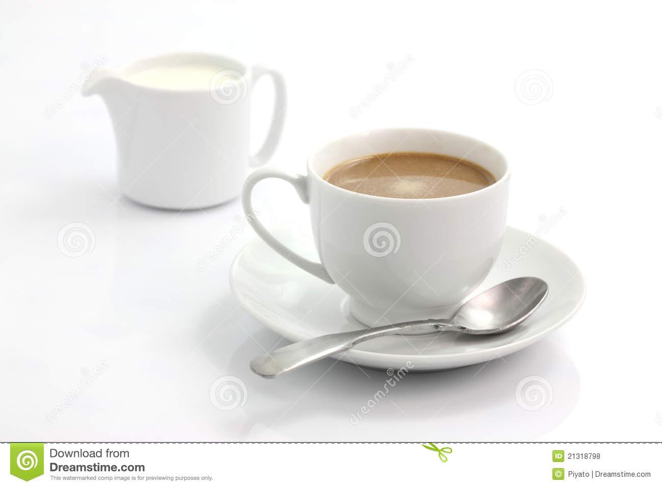 Coffee with Milk Clip Art.
