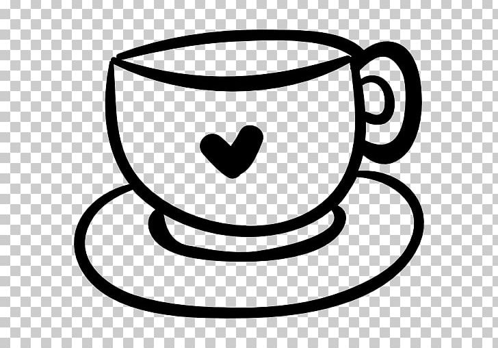 Coffee Cup Mug Cappuccino Heart PNG, Clipart, Black And White.