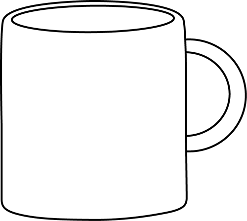 Coffee mug clipart black and white 1 » Clipart Portal.