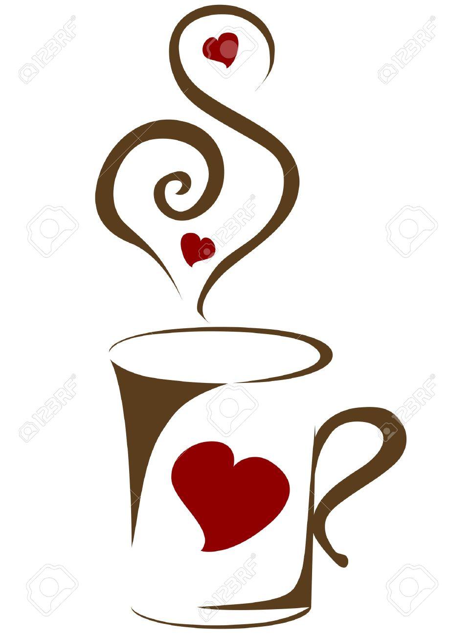 Coffee Mug With Heart Clipart.