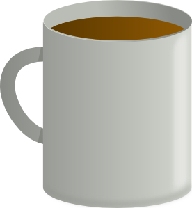 Mug of coffee clipart.