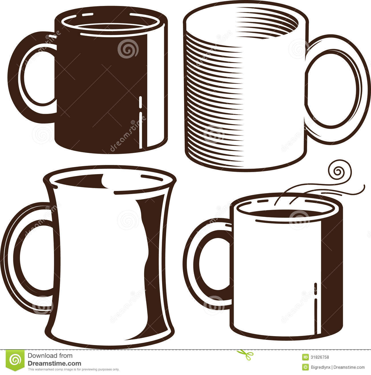 Coffee mug clipart.