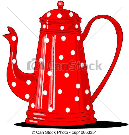 Clipart Vector of Red polka.