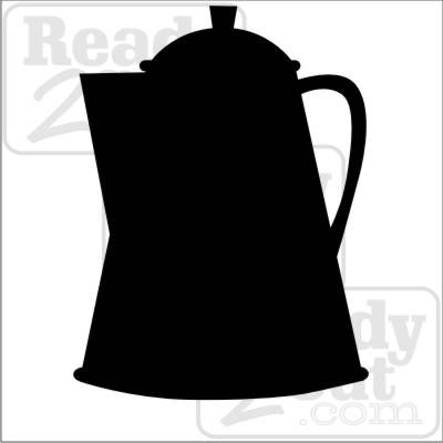 Coffee Pot Silhouette Clip Art.