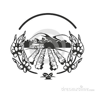 Coffee Plantation Stock Illustrations.