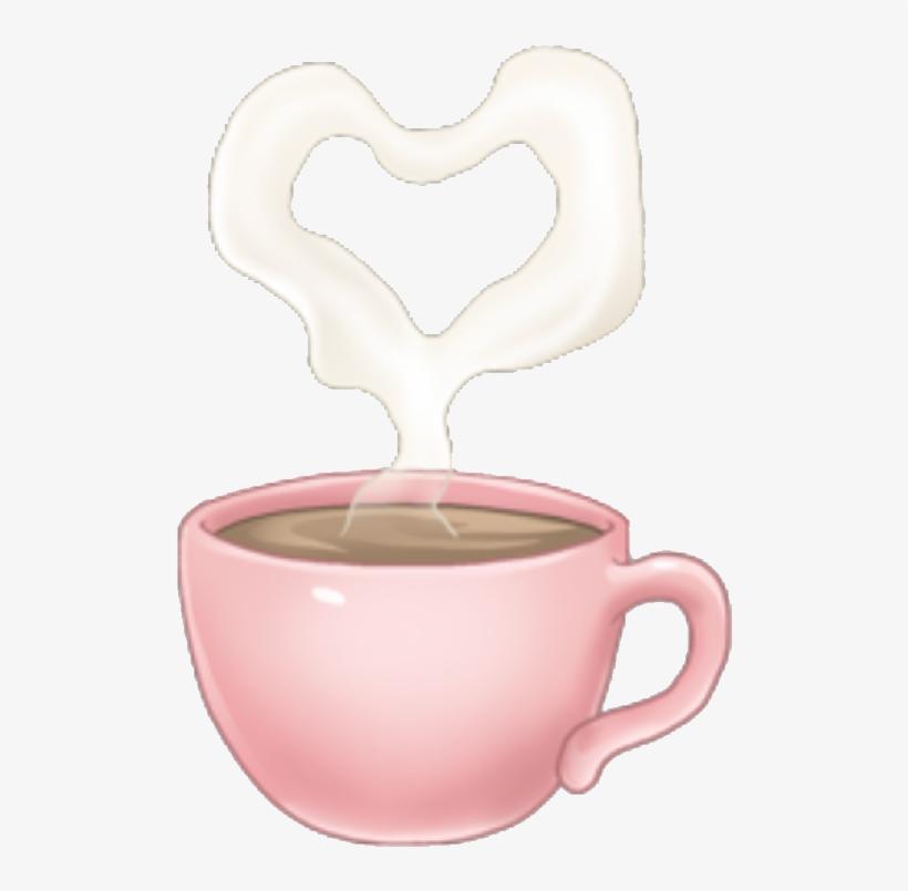 Arimoji Coffee Heart Pink Cute Tumblr Drink Sticker.