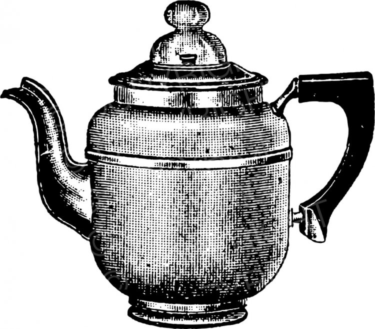 Vintage Kitchen Coffee Pot Clip Art.
