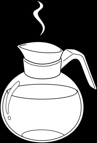 Coffee pot clip art.