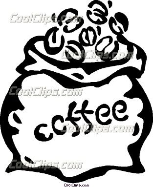 Tea coffee beans clipart.
